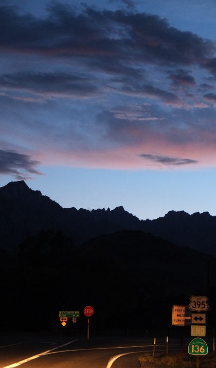Tuesday evening.  Mount Whitney roughly in the center.